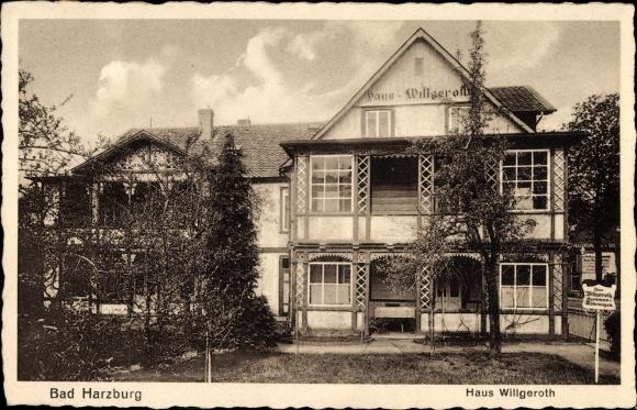 AK Bad Harzburg Hotel Haus Willgeroth Nr