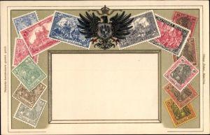 Präge Briefmarken Litho Deutsches Reich, Germania