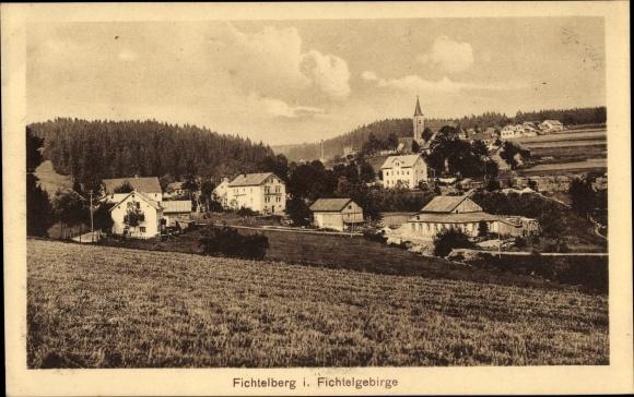 Ak Fichtelberg im Fichtelgebirge Oberfranken Bayern, Teilansicht vom Ort