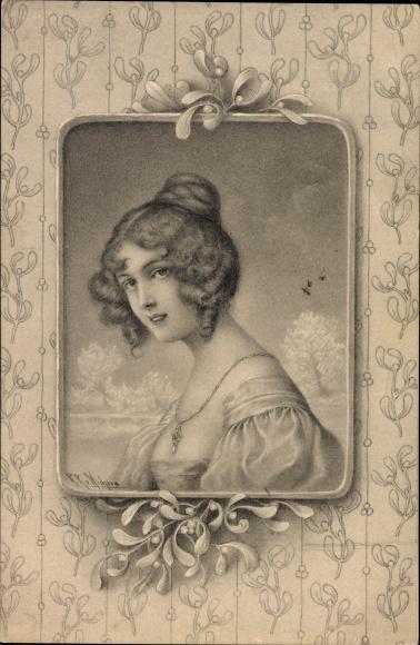 Künstler Ak Wichera, R. R. v., Portrait einer jungen Frau, Munk Nr. 229