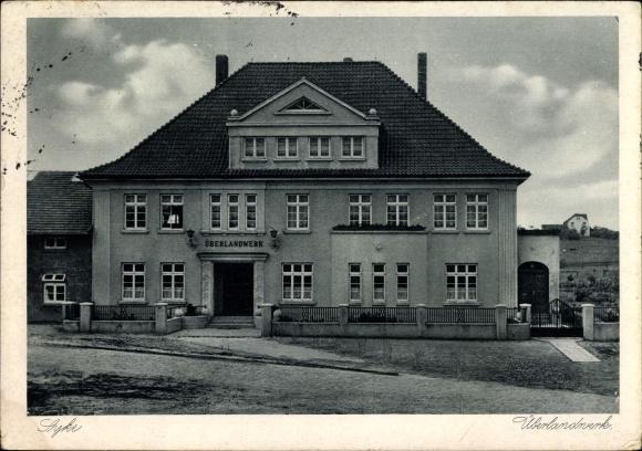 Ak Syke in Niedersachsen, Das Überlandwerk, Straßenansicht