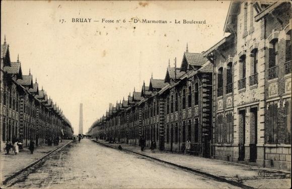 Ak Bruay Nord, Fosse No 6, Dr. Marmottan, Le Boulevard