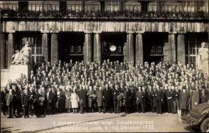 Ak Wuppertal in Nordrhein Westfalen, 1. Internationaler evgl. Schulkongress 1932