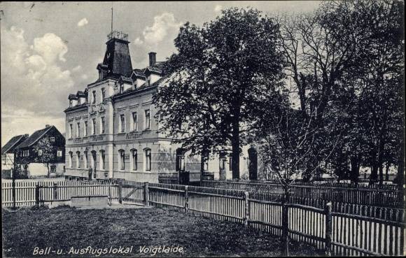 Ansichtskarte Wernsdorf Glauchau 1904 Litho Gasthaus Erbschänke Saal ...