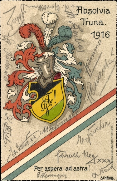Studentika Ak Traunstein in Oberbayern, Absolvia Truna 1916, Wappen