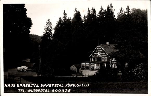 Foto Ak Königsfeld Ennepetal Nordrhein Westfalen, Haus Spreetal, Inh. Hermann Regeniter