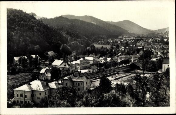 Ak Hanušovice Hannsdorf Reg. Olmütz, Blick auf Stadt und Umgebung