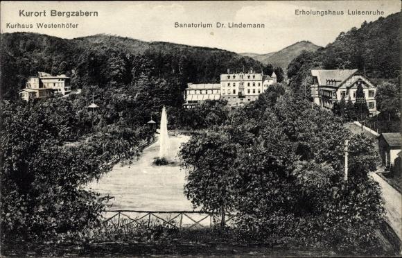 Ak Bad Bergzabern im Kreis Südliche Weinstraße, Kurhaus Westenhöfer, Sanatorium Dr. Lindemann