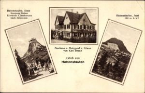 Ak Hohenstaufen Göppingen in Baden Württemberg, Gasthaus zum Löwen von Karl Straub