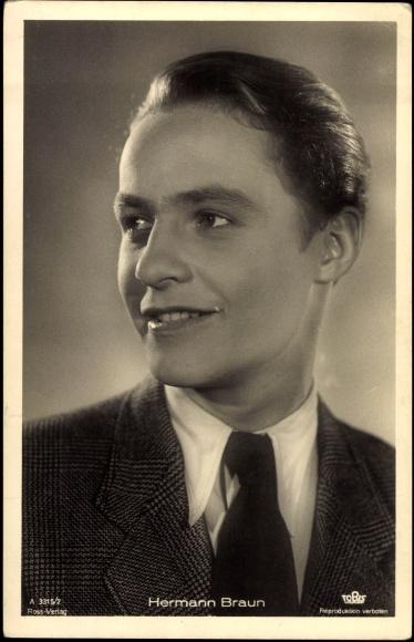 Ak Schauspieler Hermann Braun im Halbprofil
