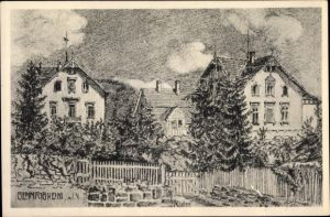 Künstler Ak Rösler, Franz, Gemmrigheim in Baden Württemberg, Teilansicht der Stadt