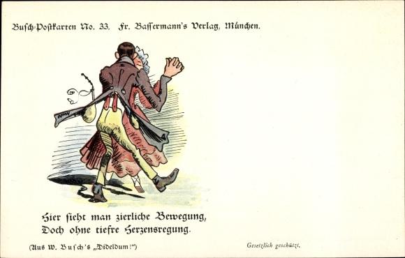 Künstler Ak Busch, Wilhelm, Hier sieht man zierliche Bewegung, Busch No 33