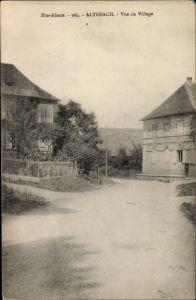 Ak Altenach Elsass Haut Rhin, Vue du Village, Straßenpartie im Dorf
