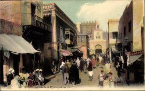 Ak Sfax Tunesien, Rue de la Republique, Straßenpartie, LL.
