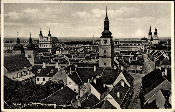 Ak Trnava Tyrnau Slowakei, Blick auf Stadt und Kirchen 0