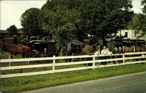 Ak Pennsylvania USA, Heart of Dutchland, Old Order Mennonites, Amish People, Buggies