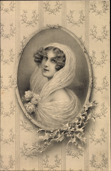 Künstler Ak Wichera, R.R., Junge Frau, Portrait, Munk 229
