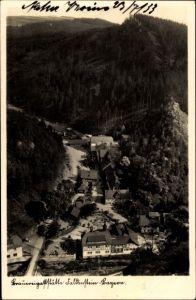 Ak Falkenstein Oberpfalz, Brauereigaststätte, Vogelschau