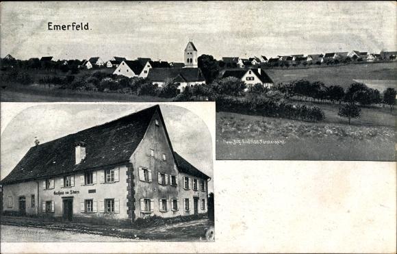 Ak Emerfeld Langenenslingen in Baden Württemberg, Gasthaus zum Löwen, Gesamtansicht