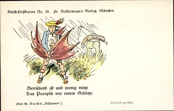 Künstler Ak Busch, Wilhelm, Betrübend ist und wenig nütze, Busch No 18