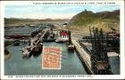 Ak Panama, Balboa Coaling Plant with Dry Docks, Panama Kanal, Kohlenfabrik, Trockendock