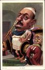 Künstler Ak Moloch, B., Monsieur Vallé, Cäsar, Verbeugende Richter, Dreyfus Affäre
