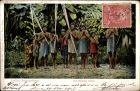 Ak Rio Pachitea Peru, Indios Antropofagos, Eingeborene, Gruppenportrait