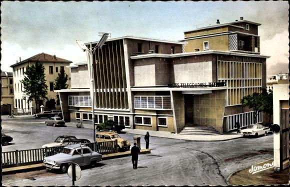 Ak Blida Algerien, Les Postes Telegraphes Telephones, Postgebäude