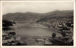 Foto Ak Gruz Dubrovnik Kroatien, Panoramaansicht von Stadt und Umgebung