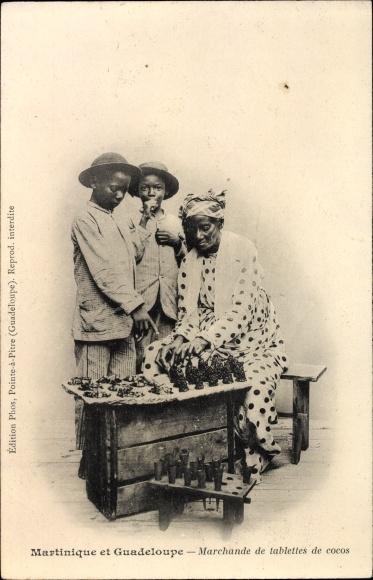 Ak Martinique, Marchande de tablettes de cocos