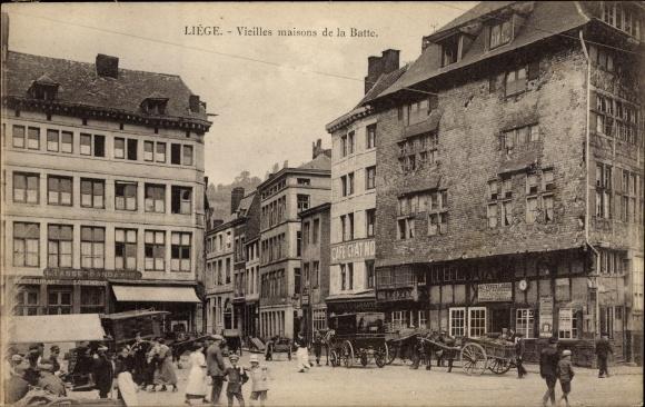 Ak Liège Lüttich Wallonien, Vielles maisons de la Batte