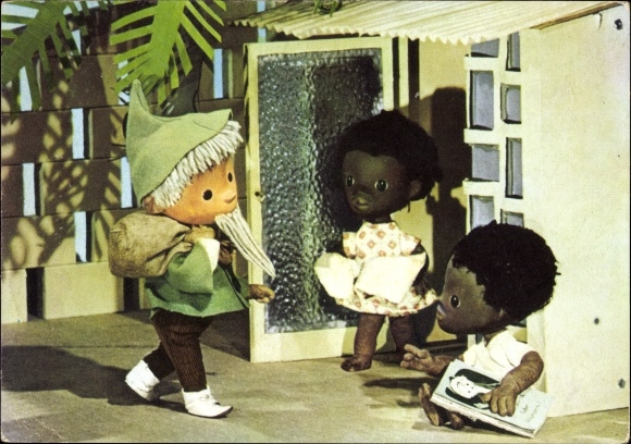 Ak Unser Sandmännchen, Sandmann, Afrikaner