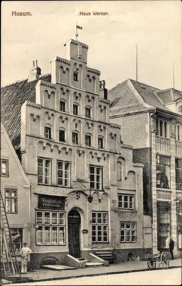 Ak Husum in Nordfriesland, Vorderansicht vom Haus Werner, Weinhandlung, Inh. H. W. Werner