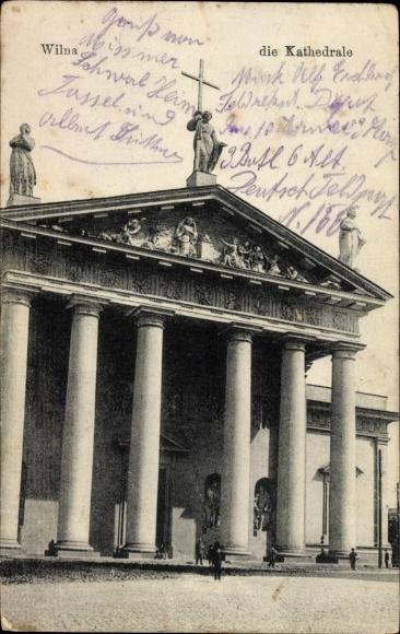 Ak Vilnius Wilno Wilna Litauen, Die Kathedrale, Eingangsportal