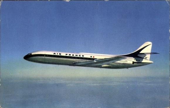 Ak Französisches Passagierflugzeug der Air France, Caravelle, F-BHRB