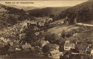 Ak Ruhla in Westthüringen, Blick auf den Ort mit Umgebung von der Knaudtstraße aus