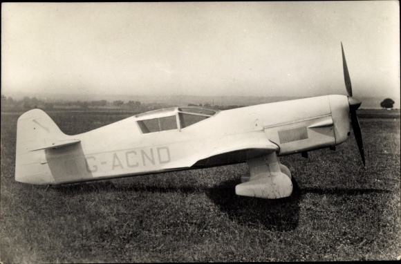 Ak Percival Mew Gull, Sportflugzeug, G-ACNO