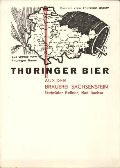 Ak Bad Langensalza im Thüringer Becken, Thüringer Bier, Brauerei Emil Müller