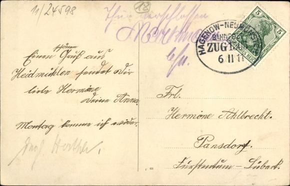 Ak Heidmühlen in Schleswig Holstein, Geschäftshaus von H. Kirchner, Wassermühle, Dorfansicht 1