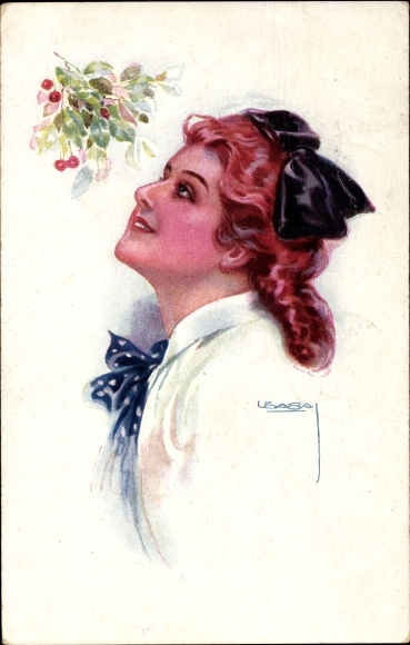 Künstler Ak Usabal, Luis, Portrait einer jungen Frau, Erkal 333/4
