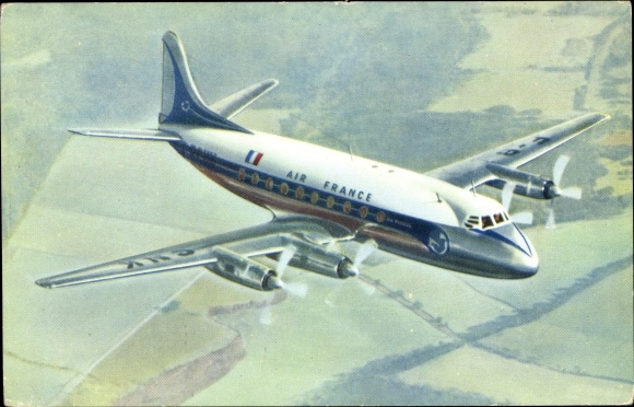 Ak Passagierflugzeug, Air France, Vickers Viscount