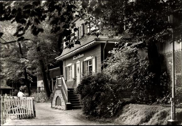 Ak Glauchau an der Zwickauer Mulde in Sachsen, Seitenansicht vom Gründelhaus