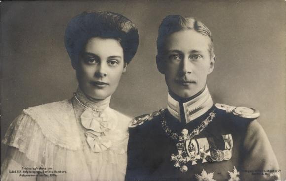 Ak Kronprinz Wilhelm von Preußen, Kronprinzessin Cecilie von Preußen, Liersch 1059/3