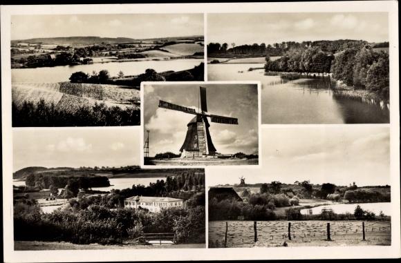 Ak Görnitz Grebin in Schleswig Holstein, Landschaftspartien, Ansicht von einer Windmühle