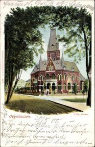 Ak Bad Oeynhausen in Nordrhein Westfalen, Durchblick zur Villa Farne