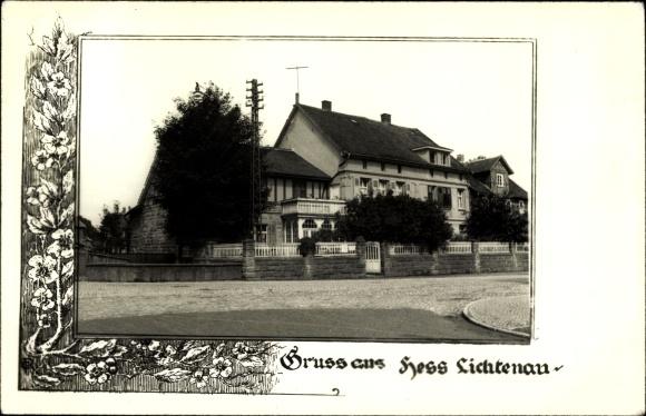 Foto Ak Hessisch Lichtenau im Werra Meißner Kreis, Straßenpartie, Gebäude