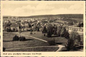 Ak Oberhof im Thüringer Wald, Blick vom Parkhotel Münscher auf den Ort