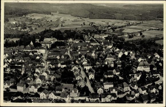 Ak Laubach in Hessen, Fliegeraufnahme von Ort und Umgebung