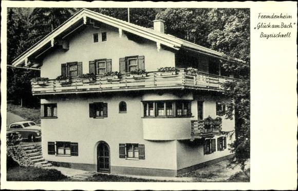 Ak Bayrischzell im Mangfallgebirge Oberbayern, Fremdenheim Glück am Bach