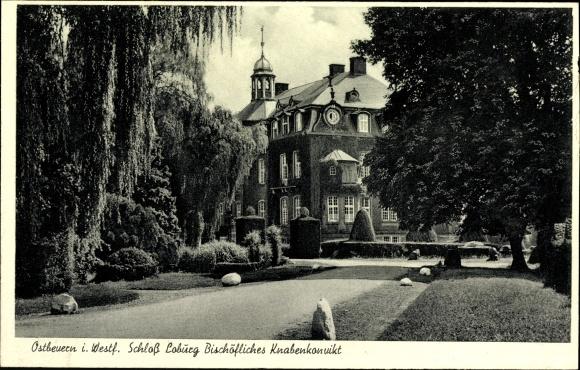 Ak Ostbeuern NRW, Schloss Loburg, Bischöfliches Knabenkonvikt